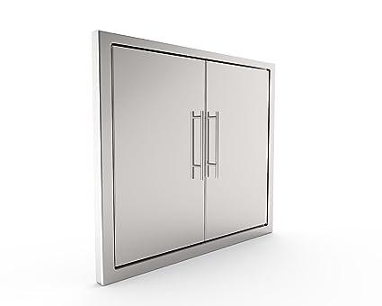 BBQ Access Door/New Elegant/ 39 Inch 304 Grade Stainless Steel BBQ  Island/Outdoor Kitchen Access Doors/Double Walled/Includes Convenient Built  in ...