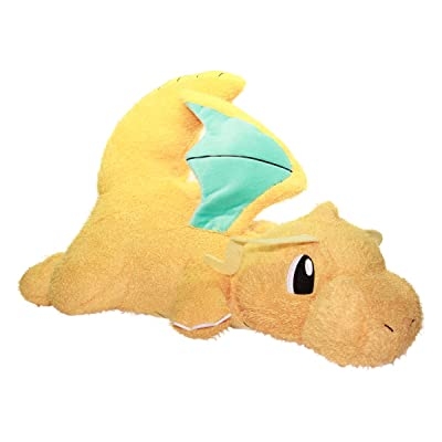 Plush Dragonite Doll Fuzzy Stuffed Animal 18 Inches Big Size Yellow Banpresto: Toys & Games