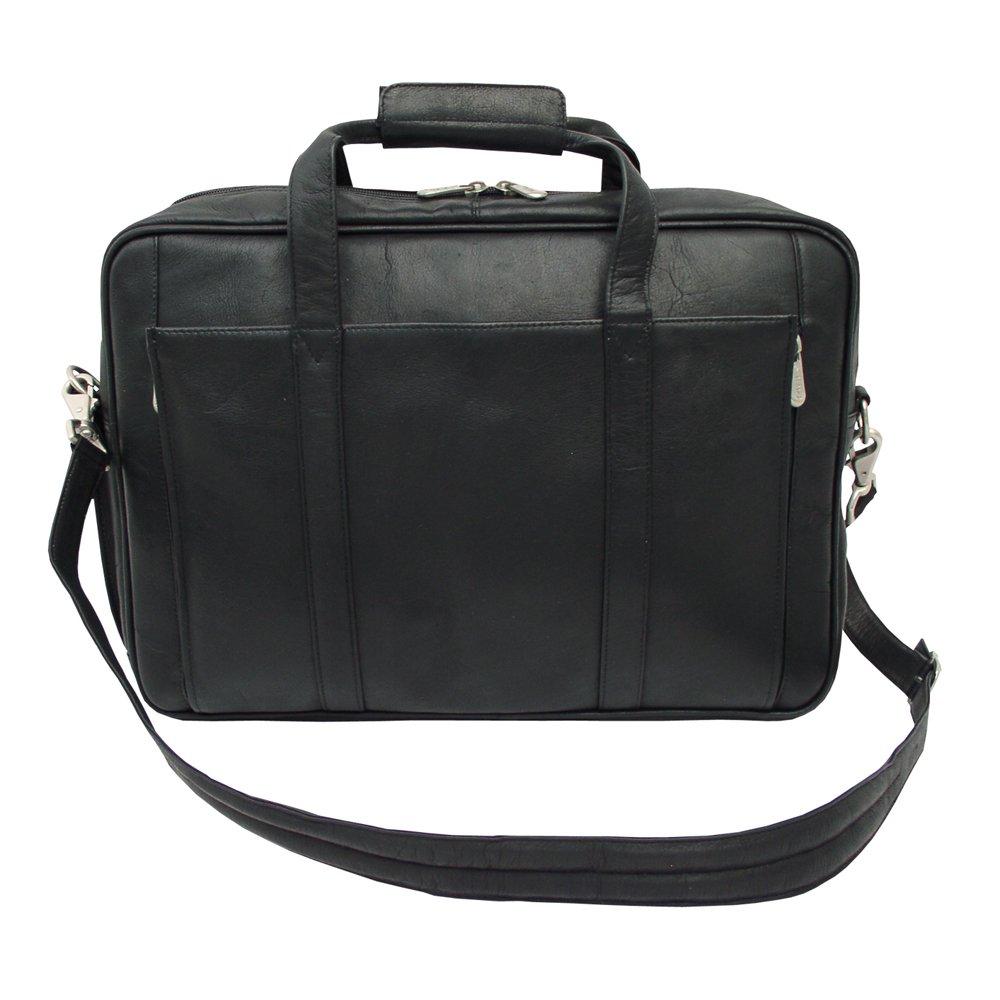 Piel Leather Computer Briefcase, Black, One Size
