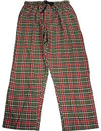 Mens Logo Woven Plaid Pants