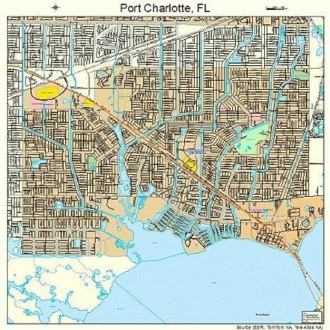 Map Of Port Charlotte Florida.Amazon Com Large Street Road Map Of Port Charlotte Florida Fl