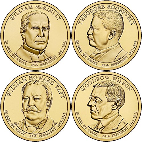 2013 Various Mint Marks Presidential Dollar 2013 P, D Presidential Dollar 8-Coin Set Uncirculated - Presidential Uncirculated Dollars