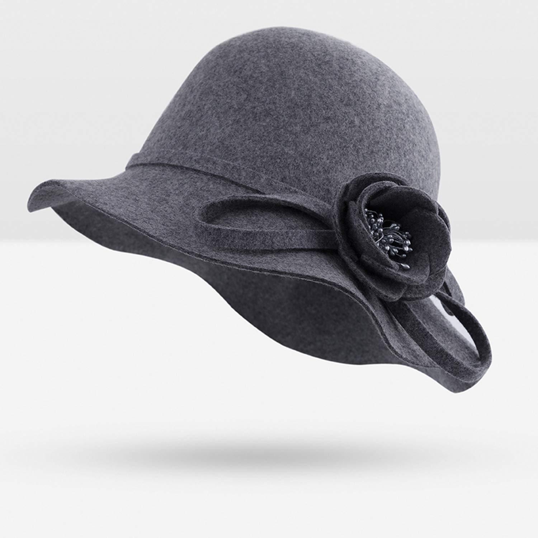 Fashion Women Fedoras Hat Soft Wool Women Floral Casual Warm hat Lady Winter Floppy Dome Winter Hats