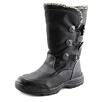 Amazon.com | Weatherproof Milo Women Round Toe Synthetic Black