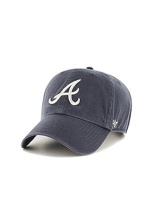 331a1cef324 47 Brand MLB Atlanta Braves Clean Up Cap - Vintage Navy  Amazon.co.uk   Clothing