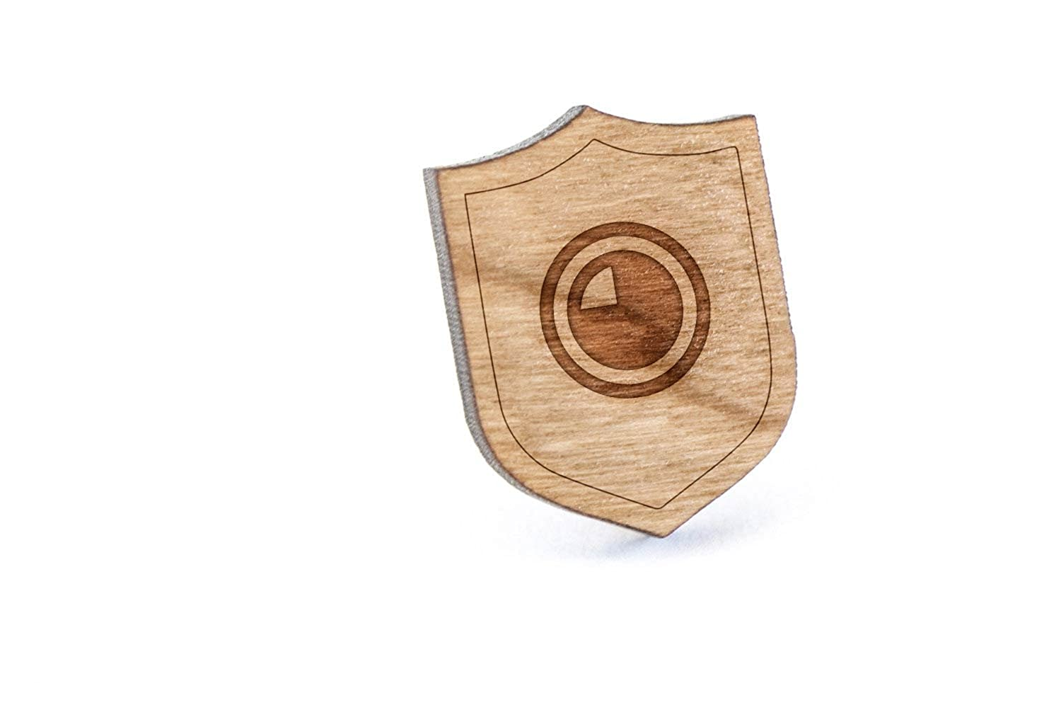 Quarter Portion Lapel Pin, Wooden Pin And Tie Tack   Rustic And Minimalistic Groomsmen Gifts And Wedding Accessories