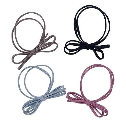 Drasawee - Bandas para el pelo con lazo, sin corbata de metal para ...
