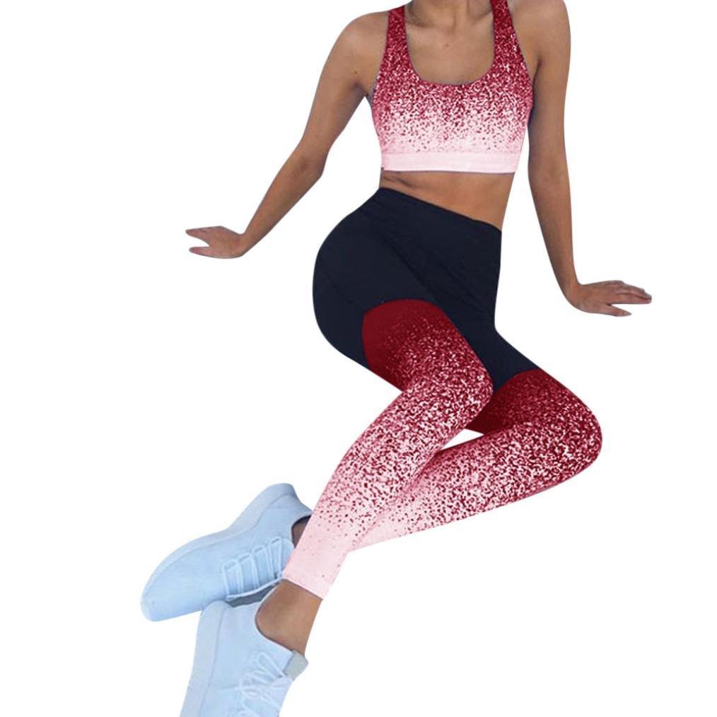 Gradient Color Yoga Pants Womens High Waist Running Sports Pants