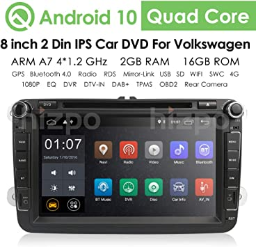 "9/""Android 2 Din Autoradio DAB+GPS WIFI USB MP3 Player SEAT Altea XL Leon Toledo"