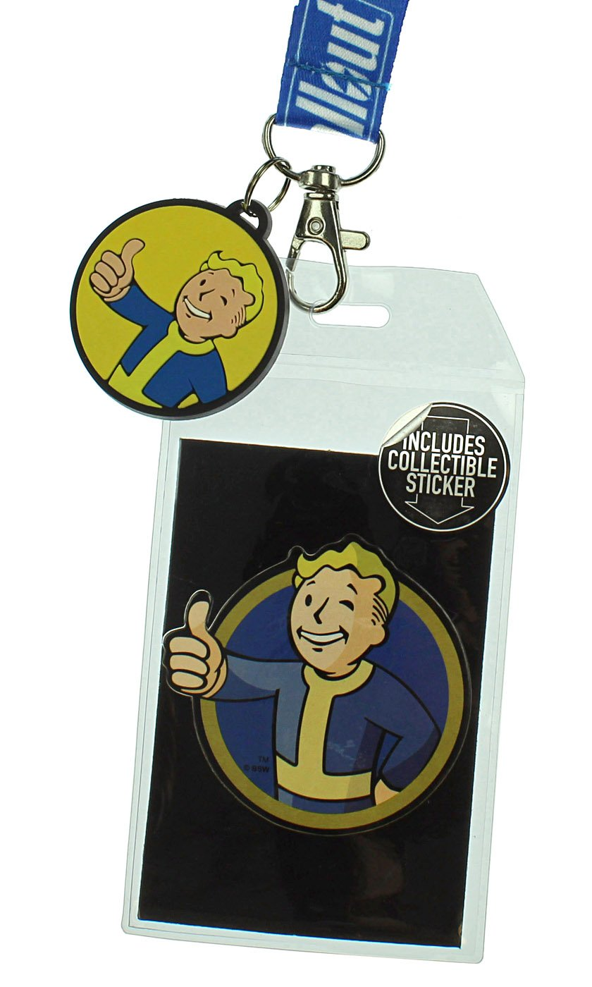Amazon.com: Fallout Reversible Breakaway Llavero Lanyard con ...
