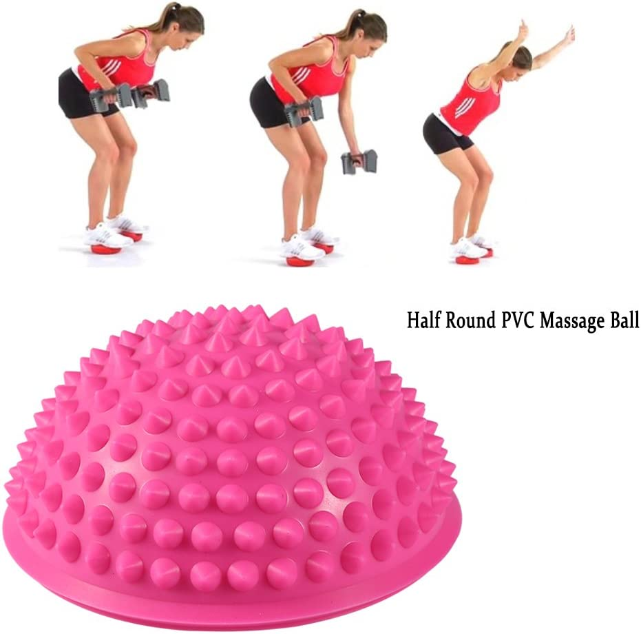 Easy to Use Physical Fitness Massage Balls Appliance Exercise Balance Mat Vruping 1 Pcs Yoga Half Ball PVC Materials Gym Exercise Accessories Yoga Pilates