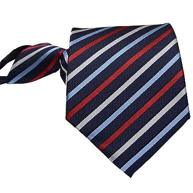 ZEVONDA Corbata de Hombres Color Sólido Raya Corbata Varios ...