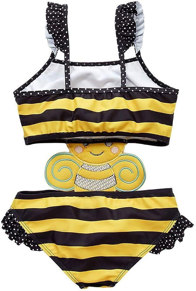 Achiyi Baby Girls One Piece Bee Swimwear Bathing Suits Super Cute Swimsuits Tankini Cartoon Summer Beachwear UPF50+