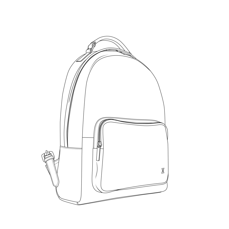 Italian Alum Leather Archer TERRACOMO New York Italian Leather Backpack