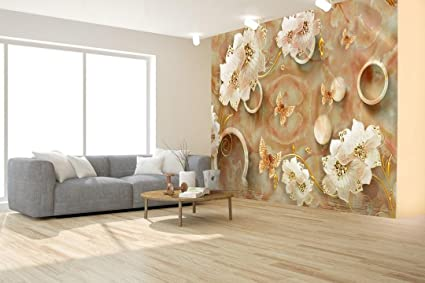 Fantastic Buy Envouge Wallpaper Flowers 3D Design Washable 4Ft X Download Free Architecture Designs Grimeyleaguecom