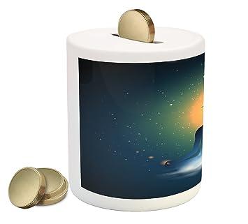 Amazon.com: Ambesonne banco de moneda caja de Yoga de ...
