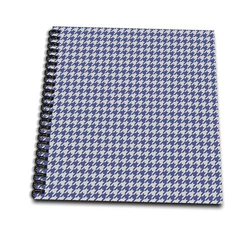 (3dRose Anne Marie Baugh - Patterns - Blue and Gray Herringbone Pattern - Mini Notepad 4 x 4 inch (db_317646_3))