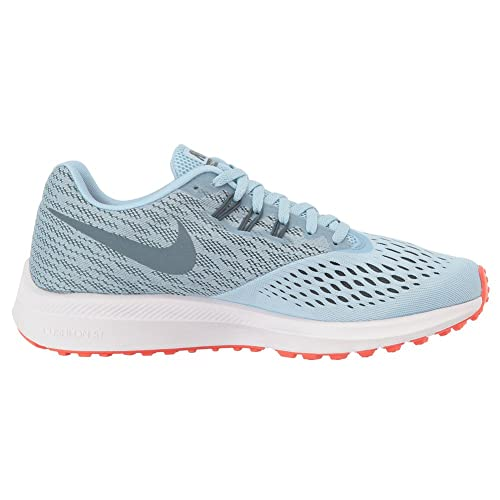 a7fba8e922f Nike Air Zoom Winflo 4 Ice Blue Blue Fox Bright Crimson White Women s  Running Shoes  Amazon.in  Shoes   Handbags