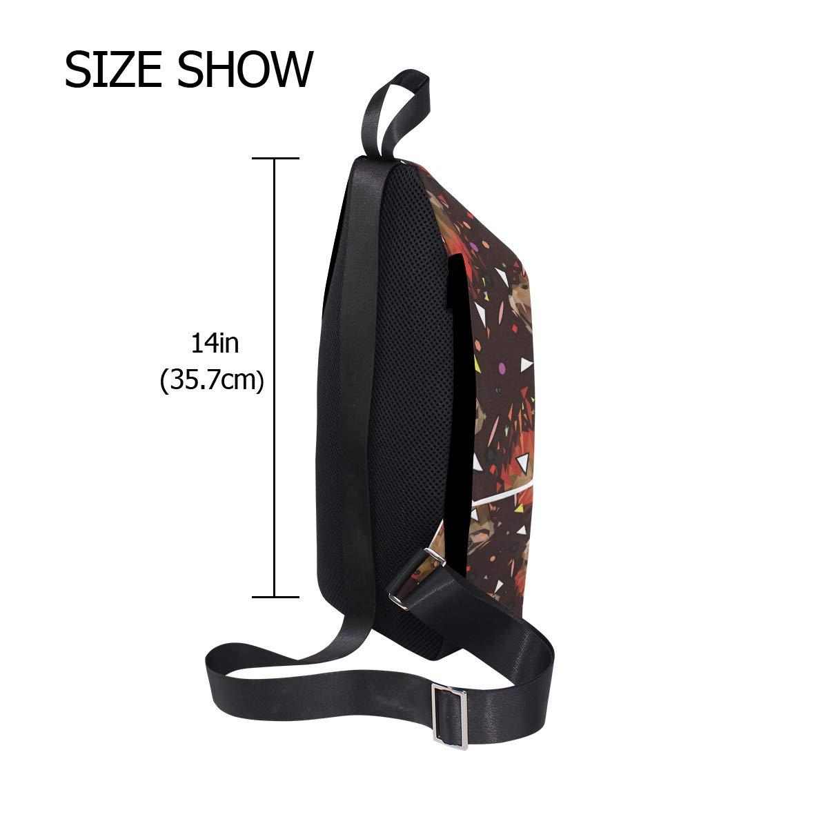 Unisex Messenger Bag Low Poly Lion Shoulder Chest Cross Body Backpack Bag