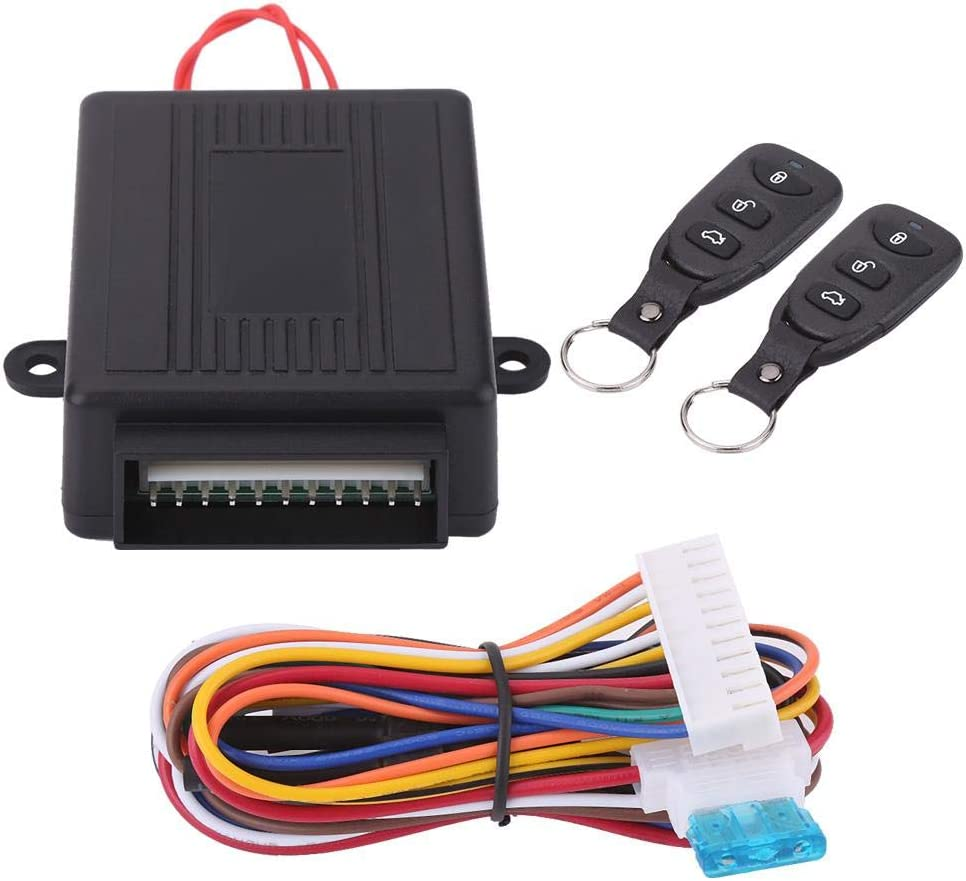 Sistema de entrada sin llave, sistema de entrada sin llave con cierre centralizado de puerta central universal para automóvil con kit de caja de control central remota con apertura de maletero