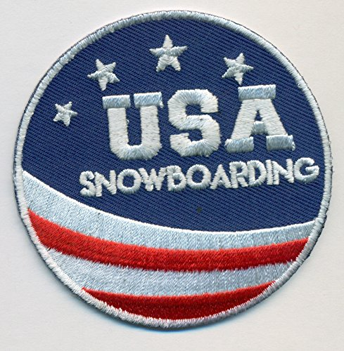 Team USA Snowboarding Embroidered Iron-On Patch Size 2 3/4