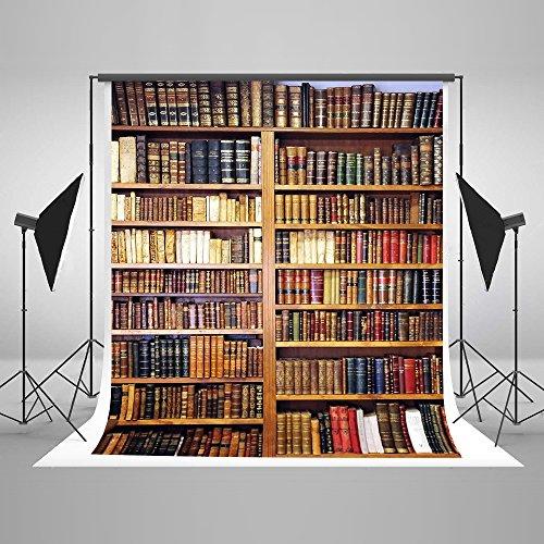(Kate 5x7ft Seamless Backdrop for Photography Vintage Wood Bookshelf Graduation Photo Background Prom Backdrops)