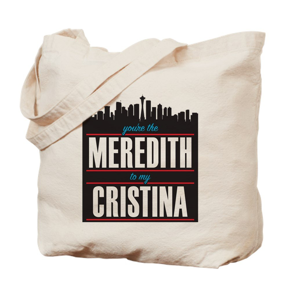 0e62756b01685b Amazon.com: CafePress - Grey's Meredith To My Cristina - Natural Canvas Tote  Bag, Cloth Shopping Bag: Kitchen & Dining