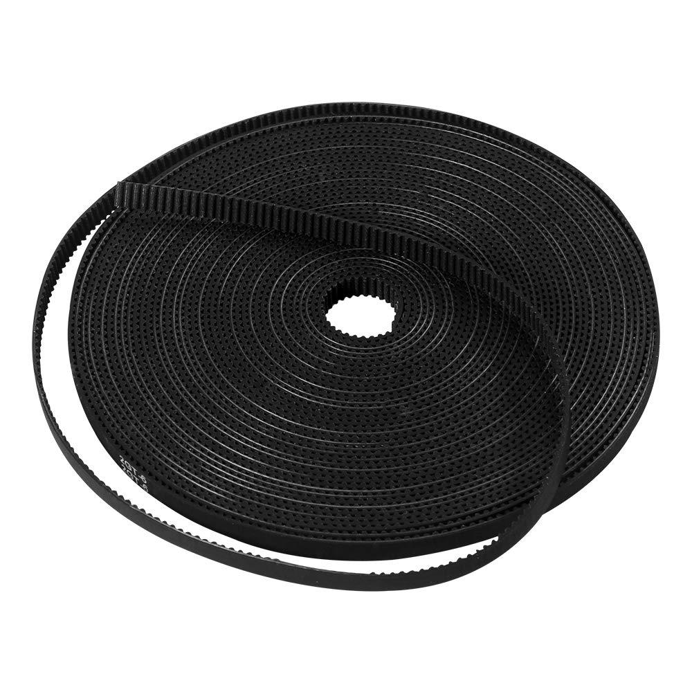 Aokin 10 Meters GT2 Timing Belt 6mm Width Fit for 3D Printer RepRap Mendel Rostock Prusa Creality CR-10 Ender 3 Anet A8