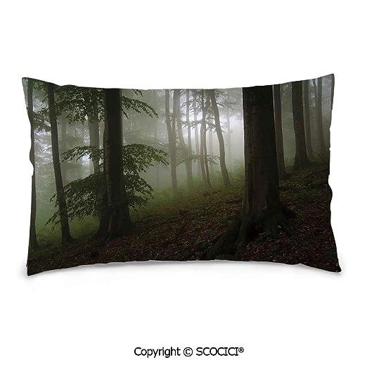 SCOCICI - Funda de almohada de terciopelo de algodón suave y ...
