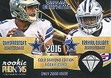 Ezekiel Elliott and Dak Prescott Unsigned 2016 Rookie Phenom Gold Diamond Card