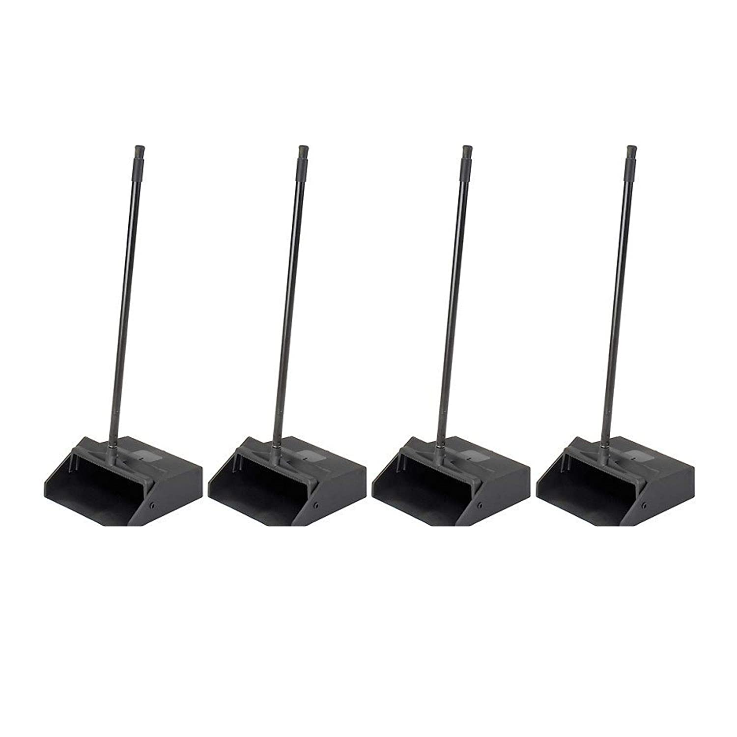 Carlisle 36141003 Duo-Pan 1-Piece Lobby Dust Pan with Metal Handle Black 2.5 Foot Overall Height