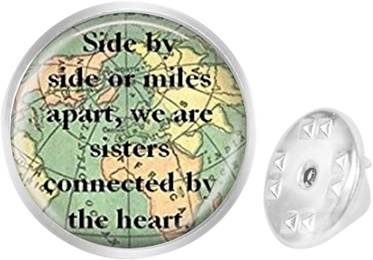 Custom Lapel Pin Brooches Sister Map Travel World Map Banquet Badge Pins Trendy Accessory Jacket T-Shirt Bag Hat Shoe