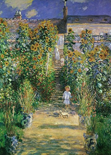 Claude Monet The Artists Garden at Vtheuil 1880 French Impressionist Painting Art Poster 12x18 inch