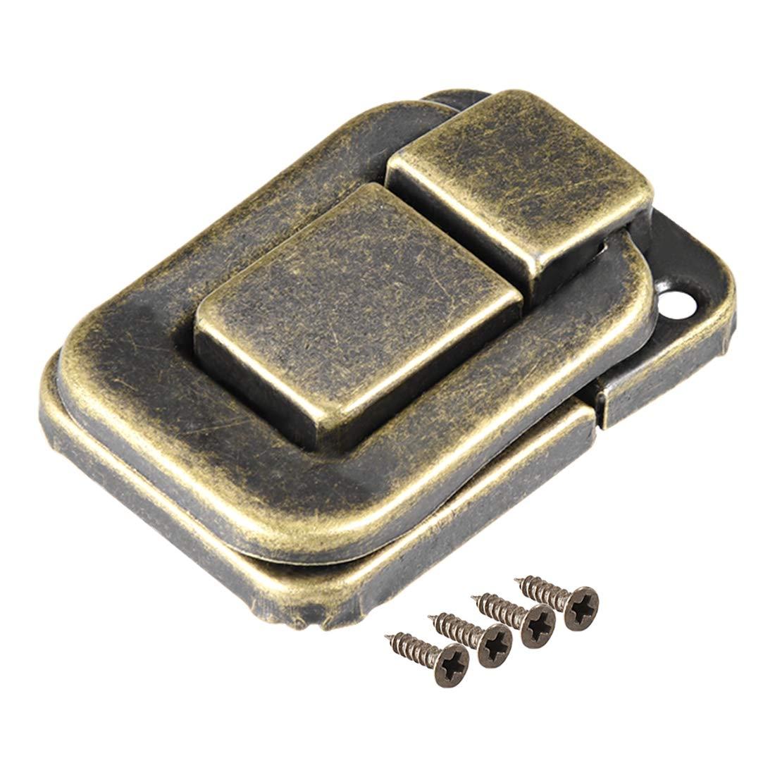 uxcell Toggle Latch, 38mm Retro Style Bronze Decorative Hasp Jewelry Wooden Box Catch w Screws 20 pcs