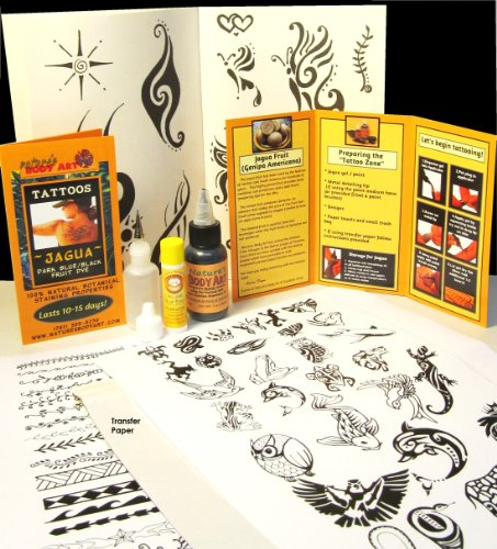 Jagua Kit (30ml Jagua) Over 150 Designs - Ready to Use- Support non-profit from Nature's Body Art / Soulstice Shop