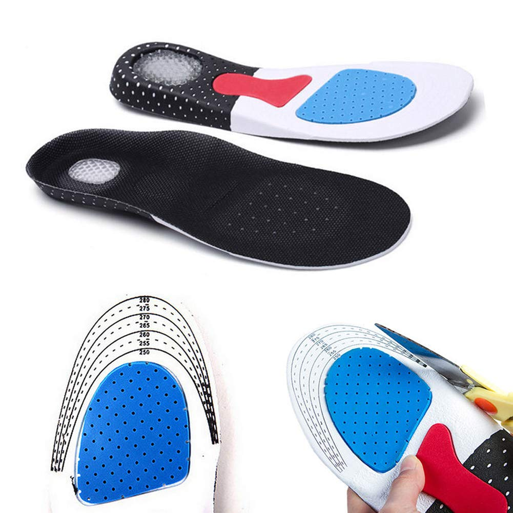 Men Support Cushion KY Gel Orthotic Sport Running Insoles Insert Shoe Pad Arch (41-45) by LYG (Image #1)
