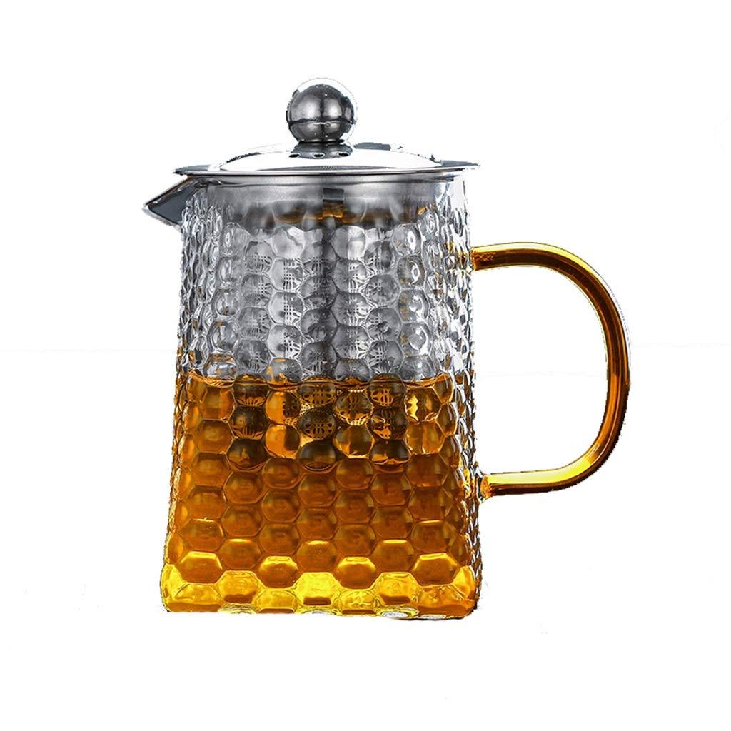 Hammer glass teapot thickening household tea maker high temperature tea set filter flower teapot heat-resistant teapot CHAJU (Size : 300ml) by CHAJU