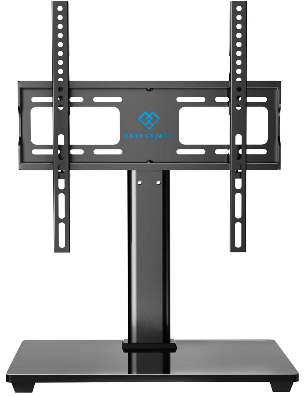 PERLESMITH Swivel Universal TV Stand / Base - Table Top TV Stand for 32-55 inch LCD LED TVs - Height Adjustable TV Mount Stand with Tempered Glass Base, VESA 400x400mm, Holds up to 88lbs by PERLESMITH