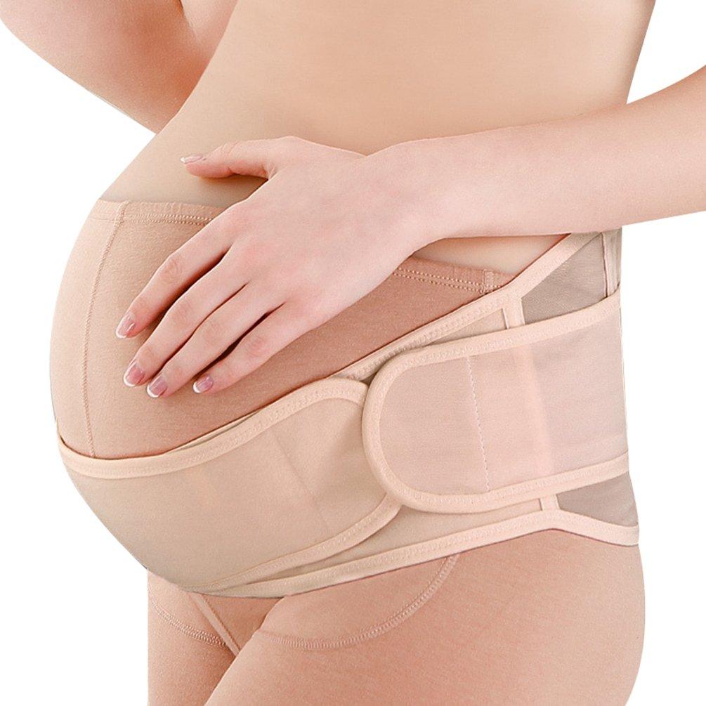 Dexinx Maternity Belt Pregnancy Support Belt Breathable Belly Band Adjustable Abdominal Binder Back and Pelvic Support Girdle
