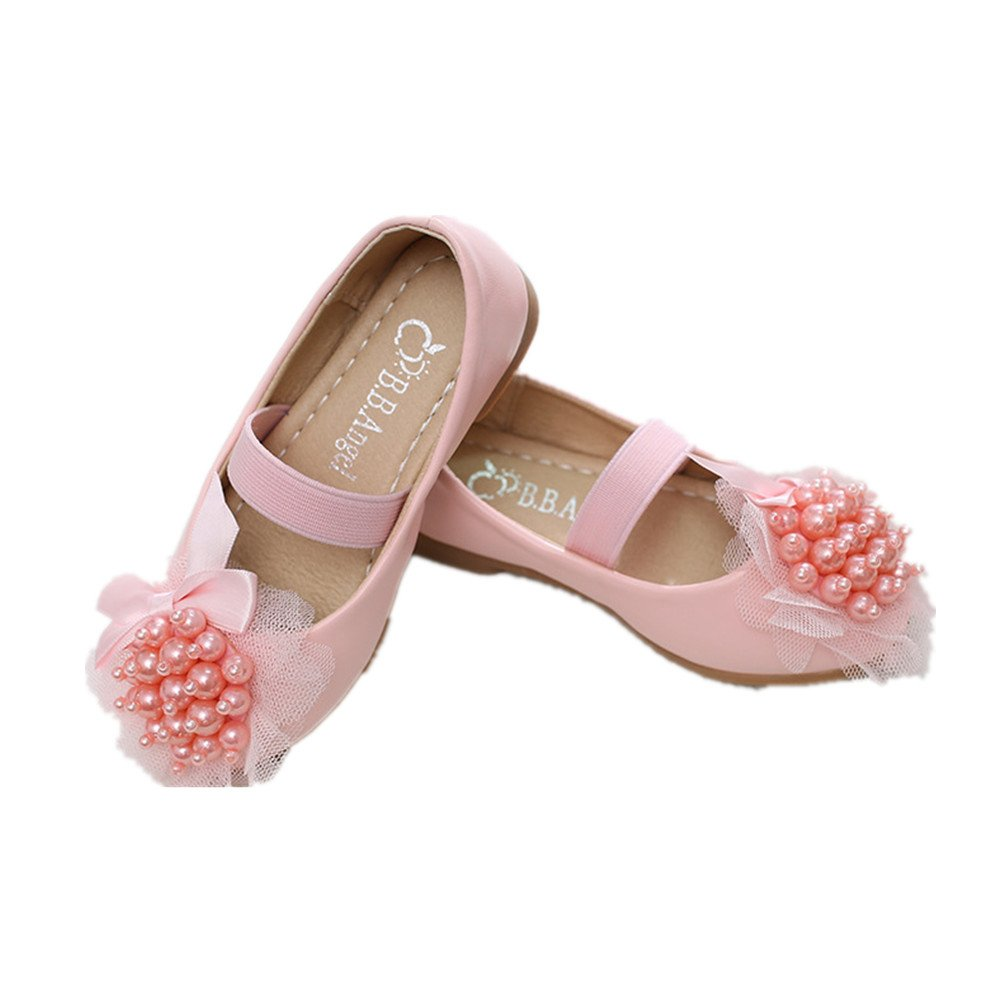 Pink 36//4 M US Big Kid edv0d2v266 Little Girls Princess Dress Shoes Sandals Children Baby Toddler Fashion Flower Dance Flat Shoes Casual Mary Jane