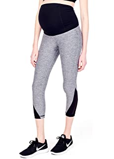 0adaac067be7d Ingrid & Isabel Women's Legging Active Capri with Mesh Detail Maternity Pant