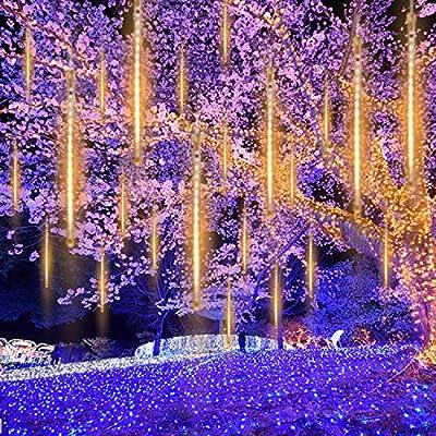 16Tubes LED Meteor Shower Lights Falling Icicle String Lights Wedding Xmas Decor