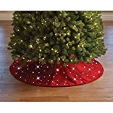 """The Cordless Twinkling Tree Skirt 48"""""""