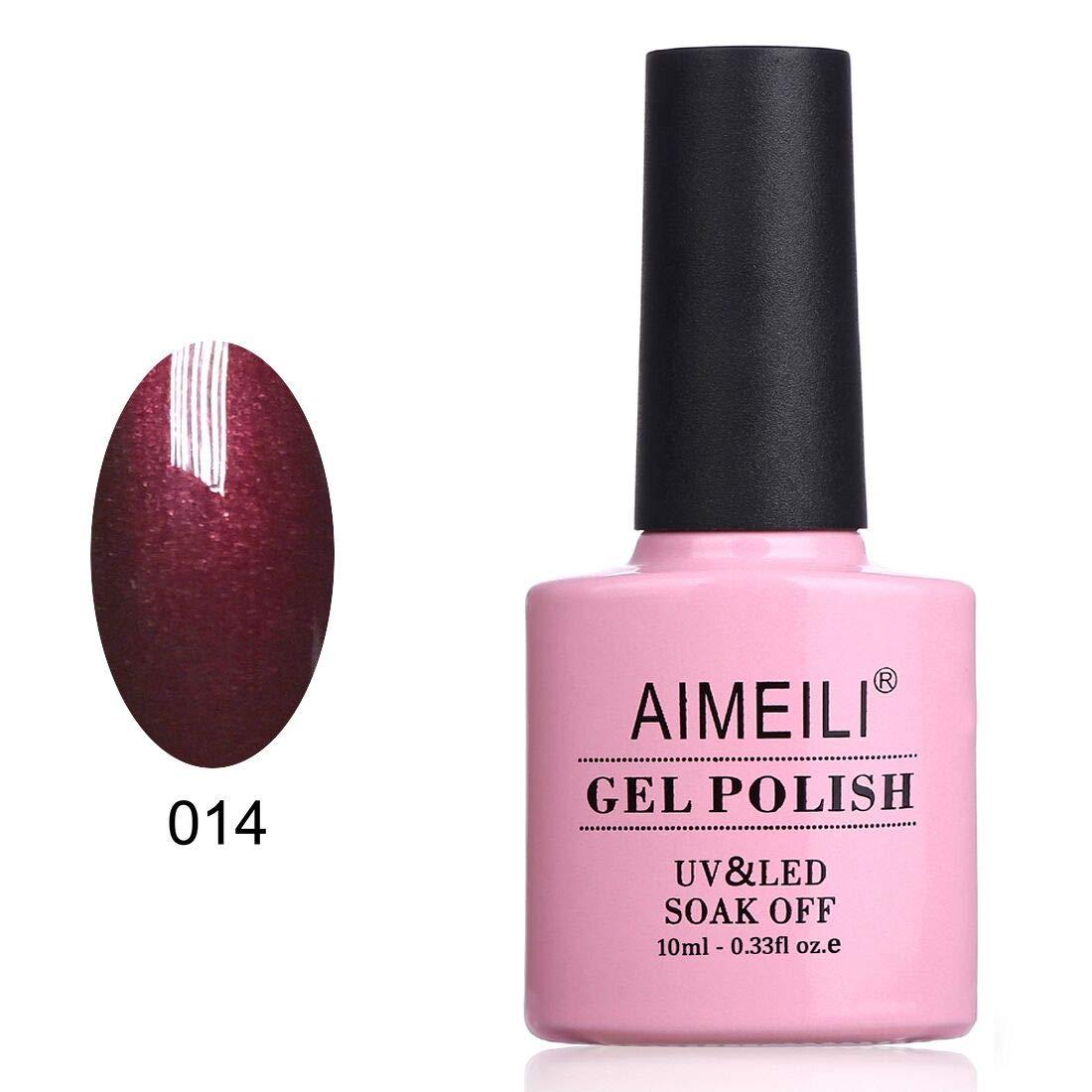 AIMEILI Soak Off UV LED Gel Nail Polish - Dark Lava (014) 10ml