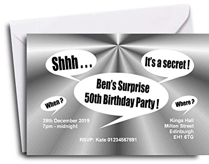 The Save Date People 40 PERSONALISED SURPRISE PARTY INVITATIONS 18th 21st 30th 40th 50th