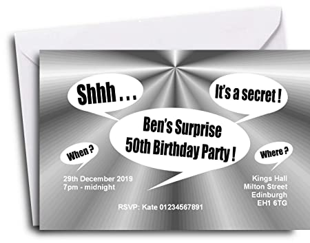 the save the date people 40 personalised surprise party invitations