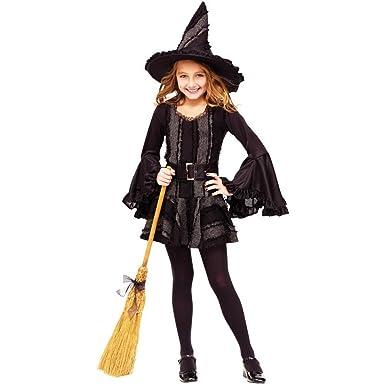 Amazon.com: Las niñas de punto de bruja disfraz (8 – 10 ...