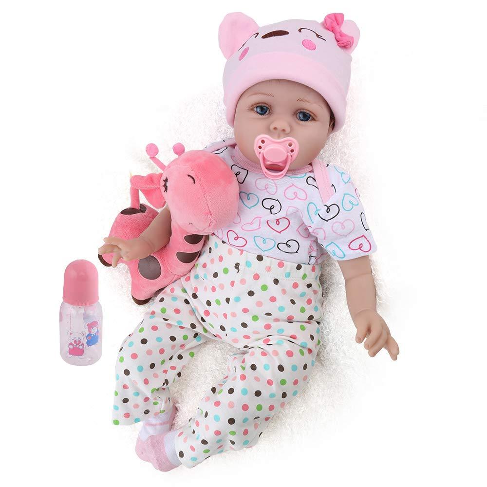 kaydora Rebornベビー人形22インチハンドメイドWeightedベビーガールReborn幼児用with a cute Giraffe   B07BNDNPGF