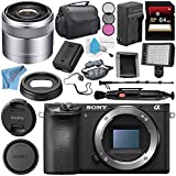 Sony Alpha a6500 Mirrorless Digital Camera (Body) ILCE6500/B + Sony E 30mm f/3.5 Macro Lens SEL30M35 + NP-FW50 Replacement Lithium Ion Battery + Deluxe Cleaning Kit Bundle
