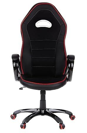 Hjh Office 621720 Chaise De Bureau Gaming Fauteuil Gamer Pace Noir